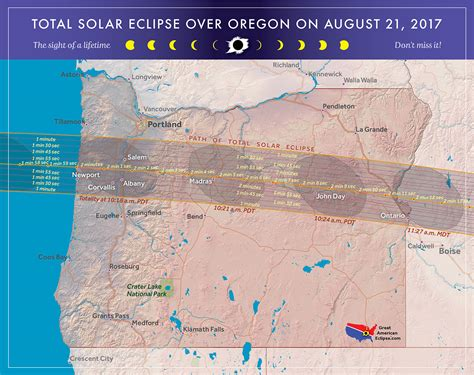 map of oregon solar eclipse 2017 total solar eclipse in oregon