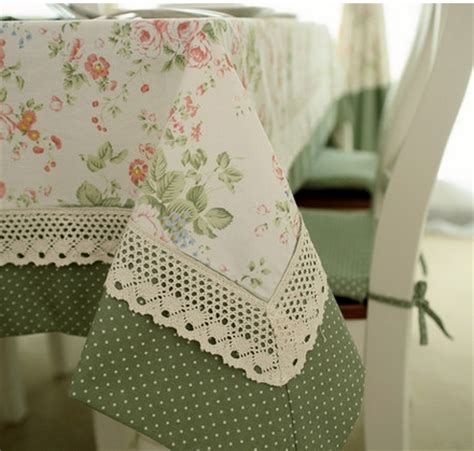 Patchwork Tablecloth - s v american rustic dot flower patchwork fabric table