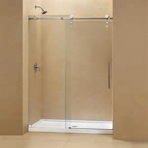 shower base with glass doors 17 best ideas about sliding shower doors on