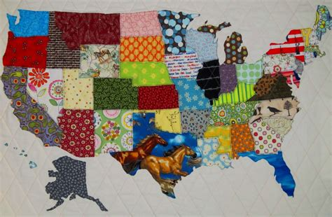 Patchwork Fabric Usa - usa patchwork map quilt pattern from quilts by