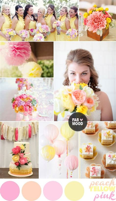pink yellow wedding colour palette wedding ideas yellow wedding colors summer wedding