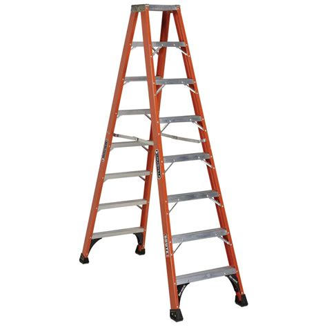 werner 8 ft fiberglass step ladder with 225 lb load capacity type ii duty rating fs208 the