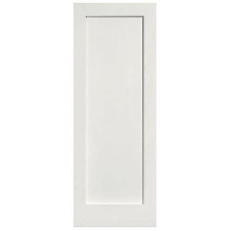 Mdf Panel Doors Interior Masonite 30 In X 80 In Mdf Series Smooth 1 Panel Solid Primed Composite Single Prehung