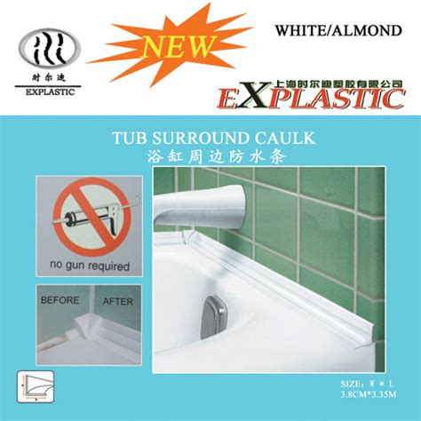 how to caulk a bathtub surround tub surround caulk strip products shanghai explastic technology co ltd