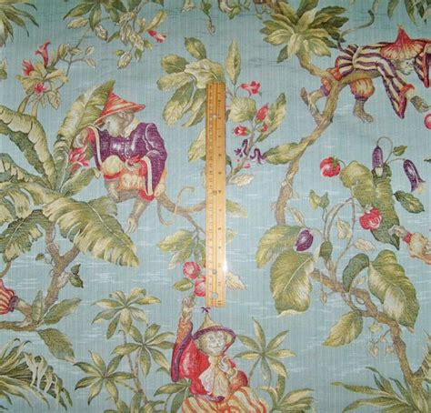 Monkey Upholstery Fabric by Italian Quot Scimmie Cinesi Quot Whimsical Chinoiserie Monkeys