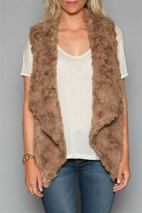 draped fur vest dylan by true grit draped faux fur vest from california by