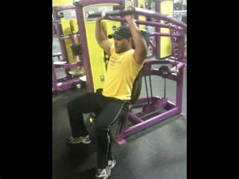 planet fitness bench press machine planet fitness overhead press machine youtube