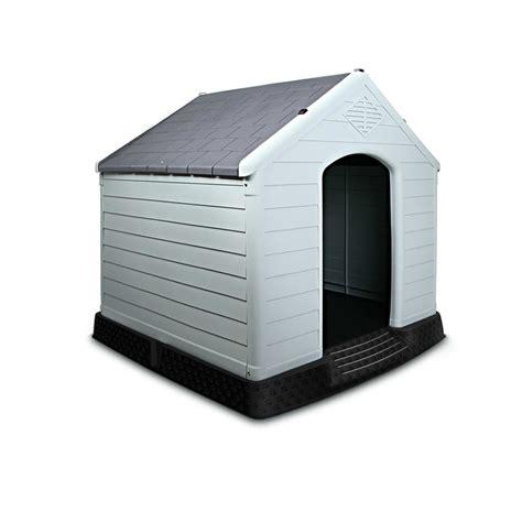 plastic dog house large durable heavy duty plastic pet dog cat weatherproof kennel house grey 99cm ebay