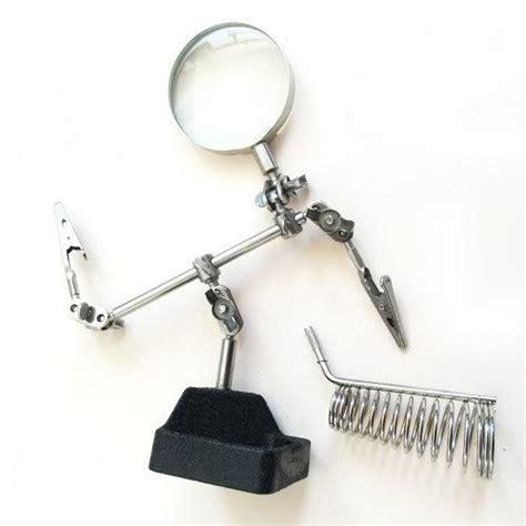 Promo Soldering Stand Evsteel Tempat Solder discount third soldering solder iron stand holder station magnifier helping tool kit010244