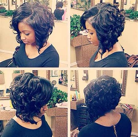 short curly bob weave hairstyles with dark inverted ideas also black 10 nice short curly weave styles short hairstyles 2017