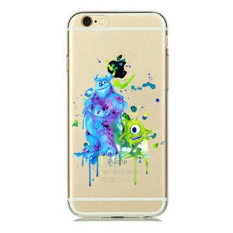 monsters inc watercolour clear iphone 4 4s 5 5s 5c 6 by casecove phone cases