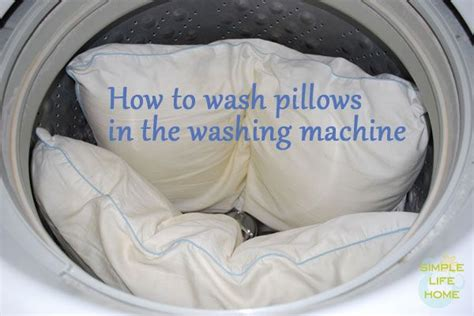 washing a pillow knowing how to wash pillows in the washing machine can