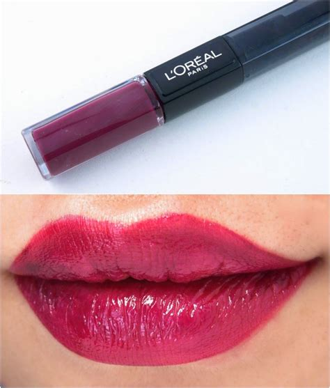 L Oreal Infallible 2 Step Lipcolor l oreal infallible 2 step lipcolor review and swatches