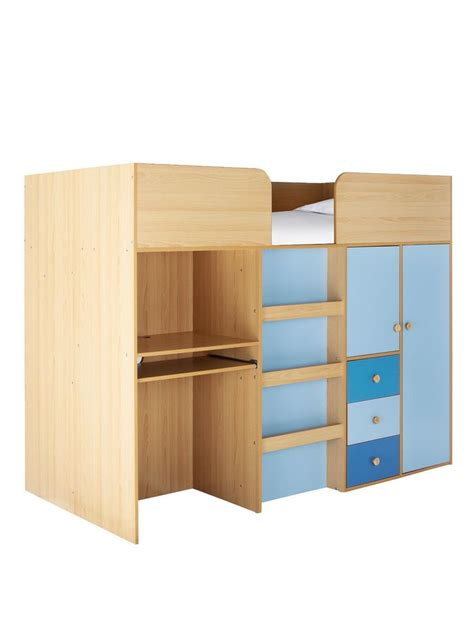 metro mid sleeper bed desk and storage http www