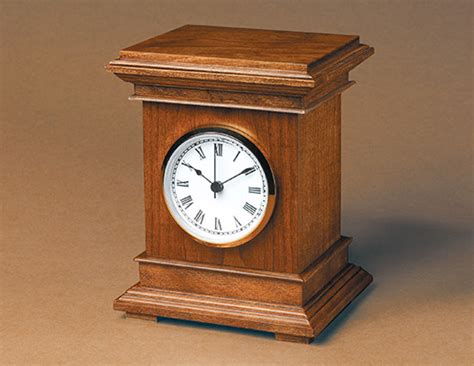 woodworking clocks desktop clock plans