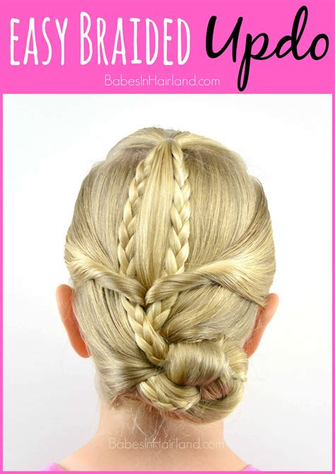 easy triple braided hairstyle babes in hairland easy braided updo babes in hairland