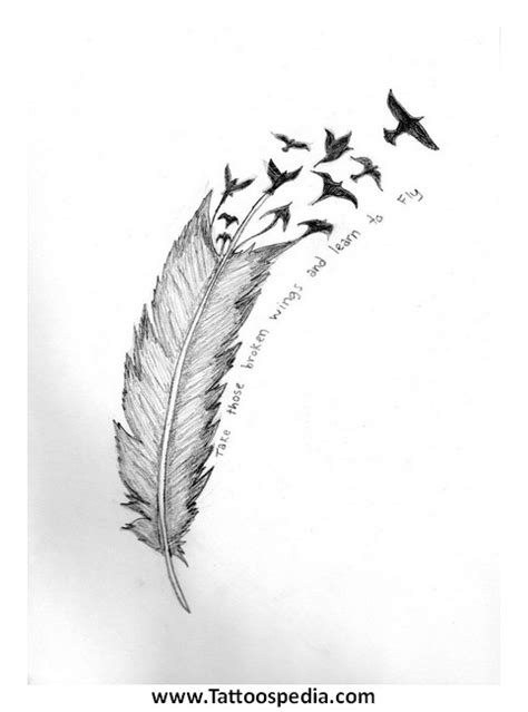 feather tattoo with quote feather tattoos with quotes quotesgram