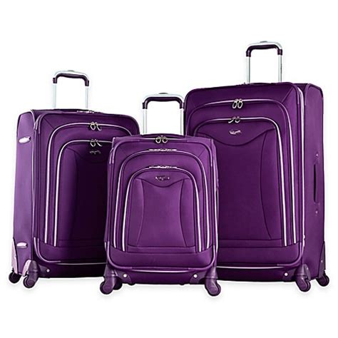 bed bath beyond luggage olympia 174 usa luxe 3 piece 4 wheel expandable spinner