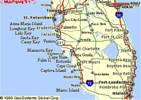 map  florida gulf coastline  travel information