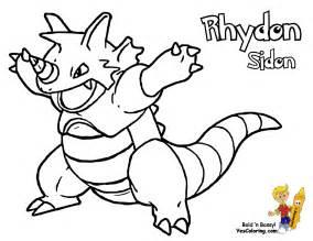 rhydon coloring pokemon