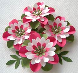 Flower In Paper - paper flowers watermelon creased with brads by