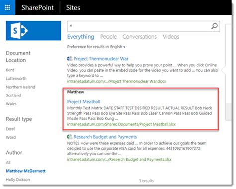 Result Type Rules And Display Templates With Sharepoint Hybrid Search Sharepoint Search Results Display Templates