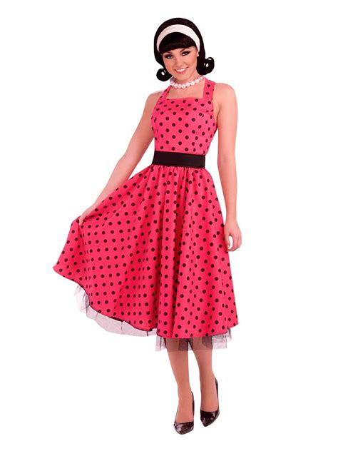 1950 s costumes adult 50 s costumes classic pin up girl costume adult 1950s pretty in polkadots costume ac530 fancy