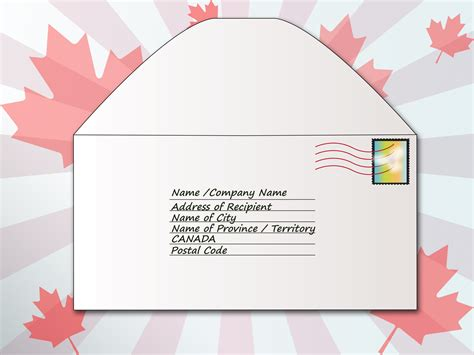 Letter Address Envelope how to address an envelope to canada 6 steps with pictures