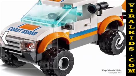 tutorial lego 4x4 red jeep lego city jeep 4x4 diving boat 60012 toys review