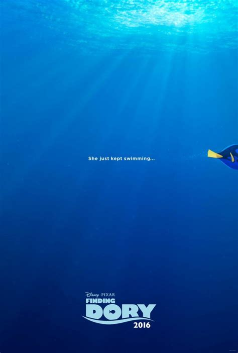 finding dory 2016 movie poster sequel to beloved pixar