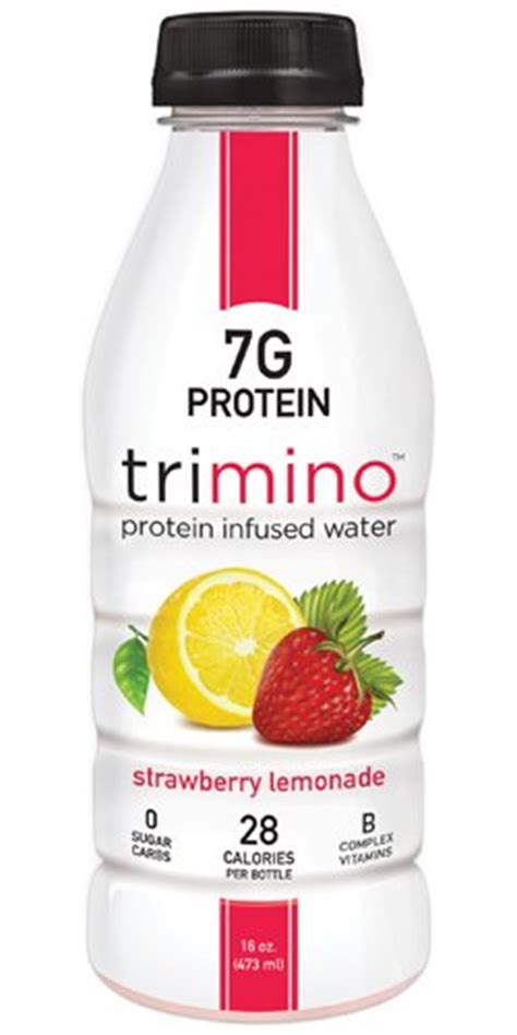 protein 20 infused water trimino protein infused water strawberry lemonade 16