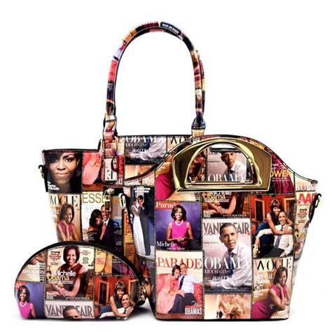 michelle obama handbags michelle obama magazine 3 in 1 purse shopper multi color