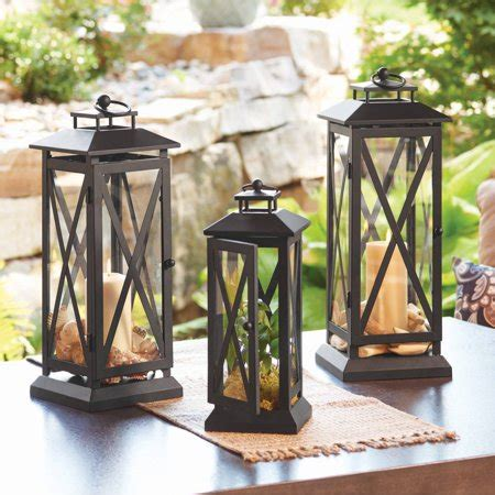 Outdoor Patio Lanterns by Better Homes And Gardens Crossbar Metal Outdoor Lantern