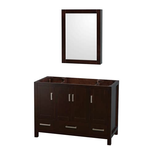 48 In Bathroom Vanity Wyndham Collection Wcs141448sescxsxxmed Sheffield 48 Inch Single Bathroom Vanity In Espresso No