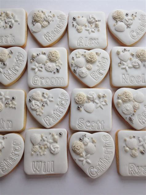 Wedding Cookie Ideas by White Ivory Personalised Wedding Cookie Favours With
