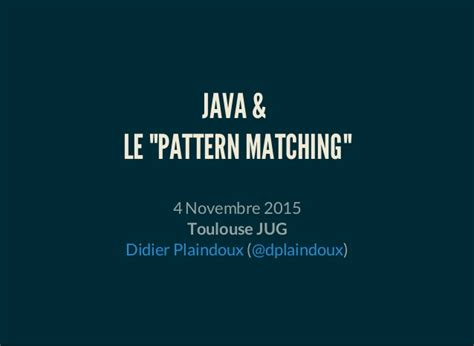 pattern matching in java online java le pattern matching