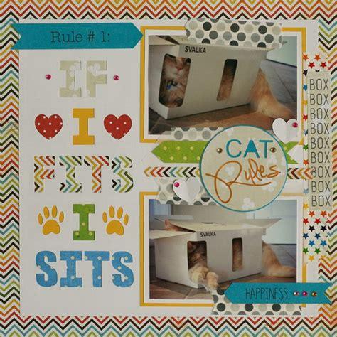 scrapbook layout cat cat rules scrapbook layout