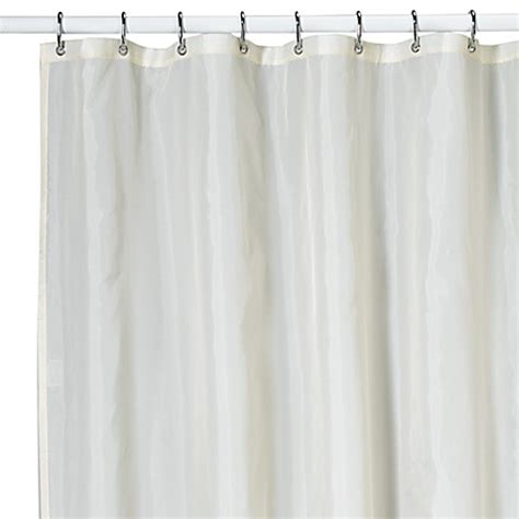 kas shower curtain kas ultimate ivory nylon shower curtain liner bed bath