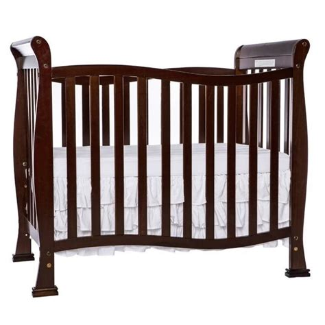 Dream On Me Piper 4 In 1 Convertible Mini Crib In Espresso Espresso Mini Crib