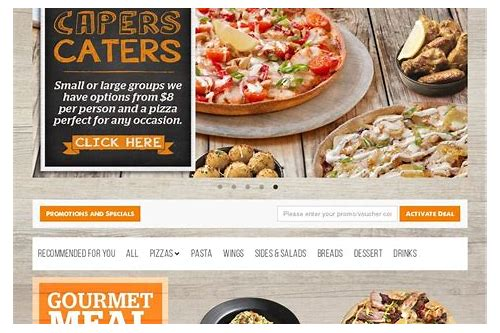 pizza capers discount coupons