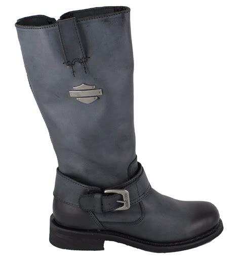 womens harley riding boots harley davidson belinda womens grey black high leg biker
