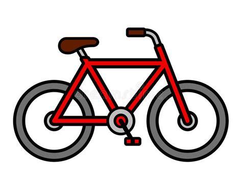 clipart bicicletta disegno di profilo rosso variopinto della bicicletta