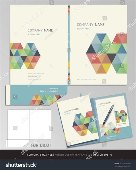 corporate identity business set folder design vectores en
