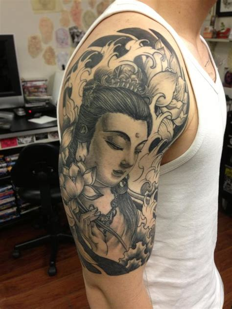 buddha sleeve by edward lee tattoonow