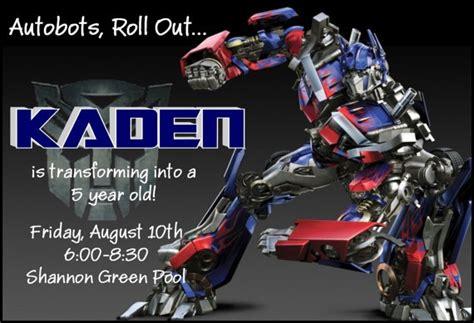 transformer birthday invitations wblqual com