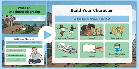 Imaginary Biography Ks2   imaginary biography writing and character building powerpoint