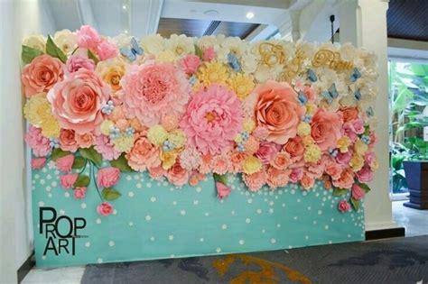 Paper Flower Backdrop Dekorasi Bunga Kertas 19 dekorasi terpopuler lewat ide dekorasi paper flower ini