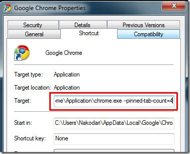 permanently pin tabs in google chrome