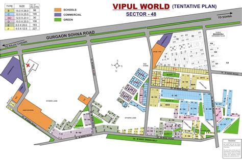 layout plan sector 52 gurgaon vipul world gurgaon plots property in gurgaon