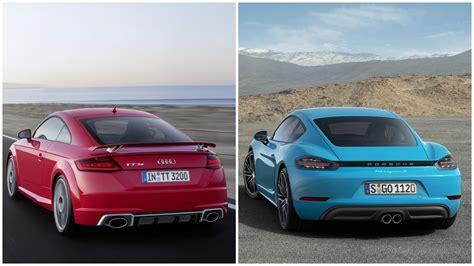 Porsche Cayman Vs Boxster by 2017 Audi Tt Rs Vs Porsche 718 Boxster And 718 Cayman